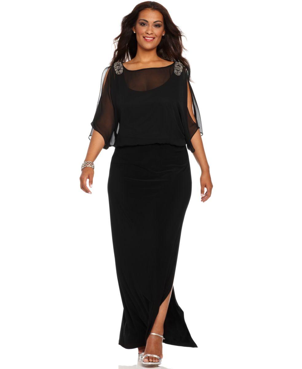 plus length dresses beneath $100