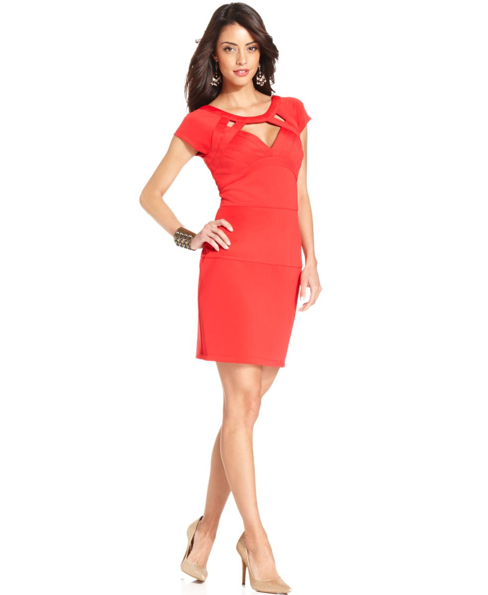 Macy s evening dresses short formal dresses - Red Cocktail Dress At Macy S 115