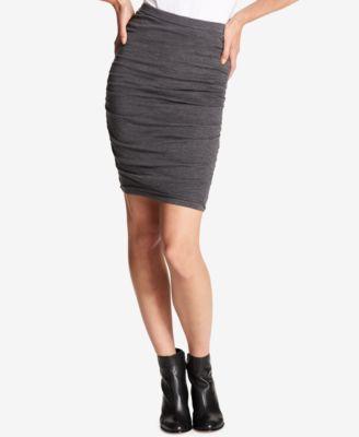Dkny Womens 1227 Gray Pleated Above The Knee Pencil Skirt Xl B B by Dkny