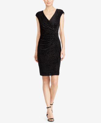 American Living Womens Black Printed Textured Sheath Dress 16 by American Living