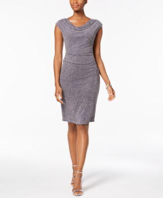 f2b6727deeb Jessica Howard Womens Gray Glitter Sleeveless Cocktail Dress Gown 10 BHFO  6473