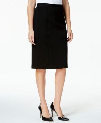 93330a2a1b KASPER $79 Womens 1272 Black Knee Length Wear To Work Pencil Skirt 6 B+B