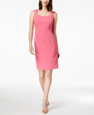 01296360 KASPER $59 Womens New 1523 Pink Sleeveless Sheath Dress 16 Petites B ...