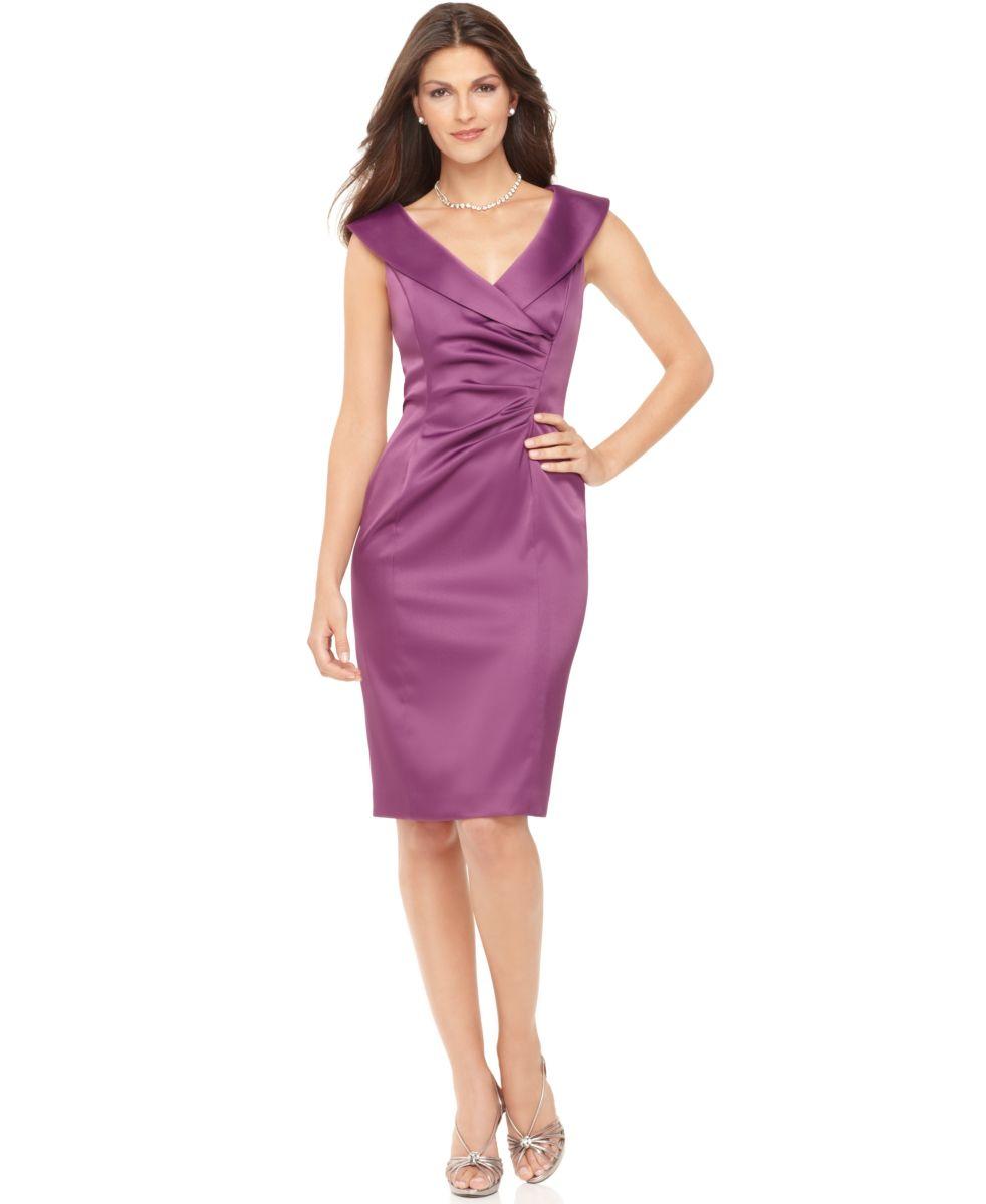Size purple cocktail dresses