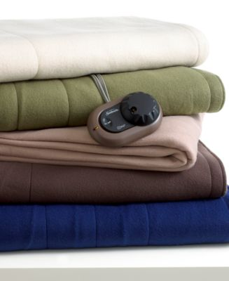 Sunbeam Slumber Rest Electric Blanket, Queen Quilted Fleece, Sand at Sears.com