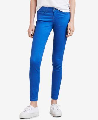 Levi's Women's Jeans Blue Size 27x30 Stretch 710 Super SKINNY Leg 59 #156