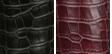 Black Crocco Faux Leather