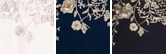 Navy/Gold Floral