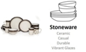 Mikasa Bailey 16-Piece Dinnerware Set