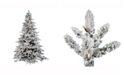 Vickerman 9' Flocked Utica Fir Artificial Christmas Tree with 1200 Multi-Colored LED Lights