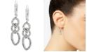 Anne Klein Pavé Interlocked Link Drop Earrings