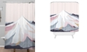 Deny Designs Iveta Abolina Off the Grid Purple Shower Curtain