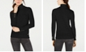 Tommy Hilfiger Cotton Button-Trim Turtleneck Sweater, Created for Macy's