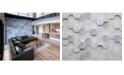Brewster Home Fashions Metal Hexagons Wall Mural