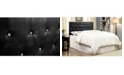 Furniture of America Chasidy Full/Queen Faux Leather Headboard