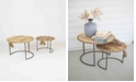 Kalalou Round Nesting Tables w/Rope Accent, Set of 2