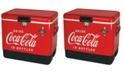 Koolatron Coca-Cola Ice Chest Beverage Cooler with Bottle Opener 51 L /54 Quart for Camping, Beach, RV, BBQs, Tailgating, Fishing