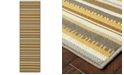 """Oriental Weavers Bali 1001J Gray/Gold 7'10"""" x 7'10"""" Indoor/Outdoor Runner Area Rug"""