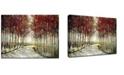"Ready2HangArt 'Fall Morning Drive' Canvas Wall Art, 20x30"""