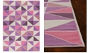 "Kas CLOSEOUT! Retreat Kaleidoscope 130 Ivory/Pink 6'7"" x 9'6"" Area Rug"