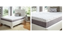 "Future Foam 10"" Comfort Loft Gray Rose with Ebonite Twin Memory Foam and Comfort Choice, Soft"