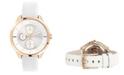 Furla Women's Metropolis Silver Dial Calfskin Leather Watch
