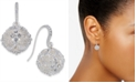 Charter Club Silver-Tone Crystal Filigree Ball Drop Earrings, Created for Macy's