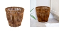 Household Essentials Small Reed Willow Waste Basket