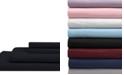 Elite Home Full Microfiber Solid Sheet Set with Bonus Pillowcases