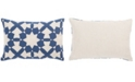 "Jaipur Living Nikki Chu By Casino Blue/Ivory Geometric Poly Throw Pillow 16"" x 24"""