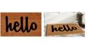 """Home & More Hello Script 17"""" x 29"""" Coir/Vinyl Doormat"""