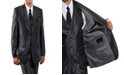 Tazio Shiny Single Breasted 2 Button Vested Suits for Boys