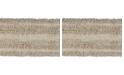 """Better Trends Tufted Cotton Crochet Race Track Bath Mat 20"""" x 60"""""""