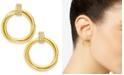 Alfani Gold-Tone Pavé Ring Small Hoop Earrings  , Created for Macy's