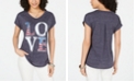 Style & Co Graphic V-Neck Top, Created for Macy's