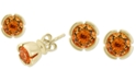 EFFY Collection EFFY® Citrine Stud Earrings (1-1/2 ct. t.w.) in 14k Rose Gold
