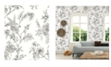 "Brewster Home Fashions Jessamine Floral Trail Wallpaper - 396"" x 20.5"" x 0.025"""