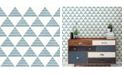 "Brewster Home Fashions Summit Triangle Wallpaper - 396"" x 20.5"" x 0.025"""