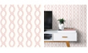 "Brewster Home Fashions Helix Stripe Wallpaper - 396"" x 20.5"" x 0.025"""