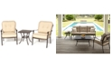 Furniture Bellingham Outdoor Cast Aluminum 3-Pc. Seating Set (2 Club Chairs and 1 End Table)