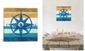 """iCanvas Compass I by Michael Mullan Gallery-Wrapped Canvas Print - 18"""" x 18"""" x 0.75"""""""
