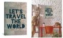 "iCanvas Travel The World by Leah Flores Gallery-Wrapped Canvas Print - 40"" x 26"" x 0.75"""