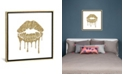 """iCanvas """"Gold Kiss Mark Drips, Square"""" by Amanda Greenwood Gallery-Wrapped Canvas Print Collection"""