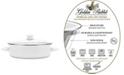Golden Rabbit Solid White Enamelware Collection 5 Quart Saute Pan