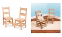 Melissa and Doug Wooden Chair Pair - Natural
