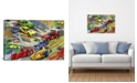 "iCanvas Cartoon Racing Cars Children Art by Unknown Artist Wrapped Canvas Print - 26"" x 40"""
