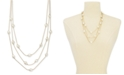 """Charter Club Gold-Tone Imitation Pearl Multi-Row Necklace, 20"""" + 2"""" extender, Created for Macy's"""