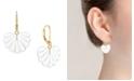 Trifari 14K Gold-Plated Shell Drop Earrings