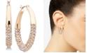 "Anne Klein Small Gold-Tone Pavé Hoop Earrings 1"""