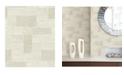 "A-Street Prints 21"" x 396"" Composition Champagne Global Geometric Wallpaper"